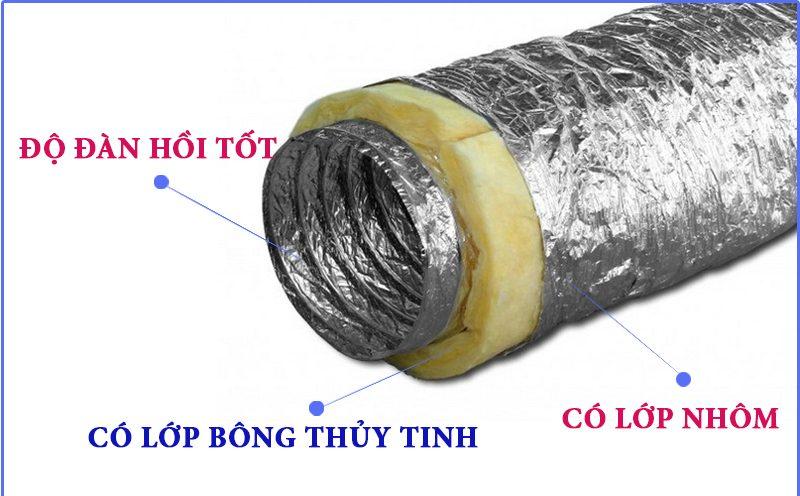 Chất lượng ống gió mềm cách nhiệt